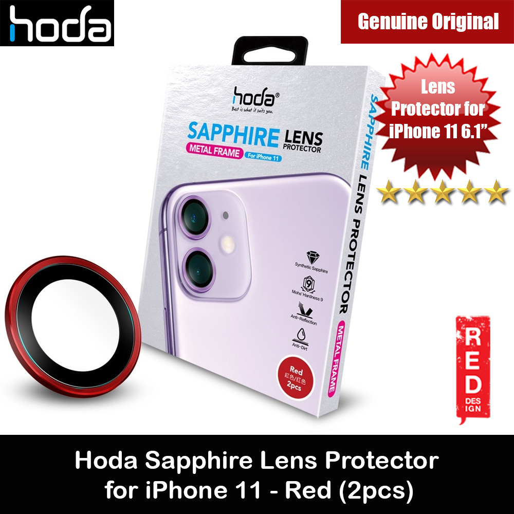 Picture of Hoda Sapphire Lens Protector for iPhone 11 6.1 (Red) Apple iPhone 11 6.1- Apple iPhone 11 6.1 Cases, Apple iPhone 11 6.1 Covers, iPad Cases and a wide selection of Apple iPhone 11 6.1 Accessories in Malaysia, Sabah, Sarawak and Singapore