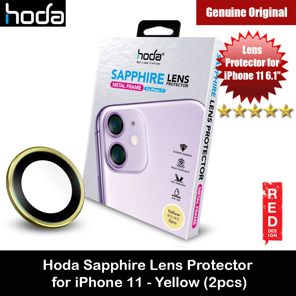 Picture of Hoda Sapphire Lens Protector for iPhone 11 6.1 (Yellow) Apple iPhone 11 6.1- Apple iPhone 11 6.1 Cases, Apple iPhone 11 6.1 Covers, iPad Cases and a wide selection of Apple iPhone 11 6.1 Accessories in Malaysia, Sabah, Sarawak and Singapore