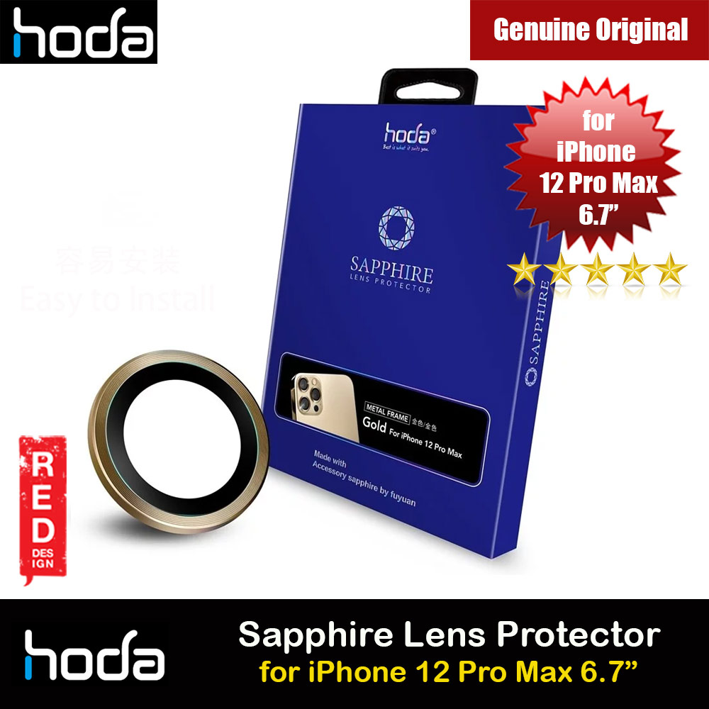 Picture of Hoda Sapphire Lens Protector for Apple iPhone 12 Pro Max 6.7  (Gold) Apple iPhone 12 Pro Max 6.7- Apple iPhone 12 Pro Max 6.7 Cases, Apple iPhone 12 Pro Max 6.7 Covers, iPad Cases and a wide selection of Apple iPhone 12 Pro Max 6.7 Accessories in Malaysia, Sabah, Sarawak and Singapore