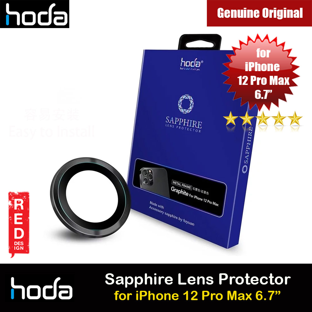 Picture of Hoda Sapphire Lens Protector for Apple iPhone 12 Pro Max 6.7 (Graphite) Apple iPhone 12 Pro Max 6.7- Apple iPhone 12 Pro Max 6.7 Cases, Apple iPhone 12 Pro Max 6.7 Covers, iPad Cases and a wide selection of Apple iPhone 12 Pro Max 6.7 Accessories in Malaysia, Sabah, Sarawak and Singapore