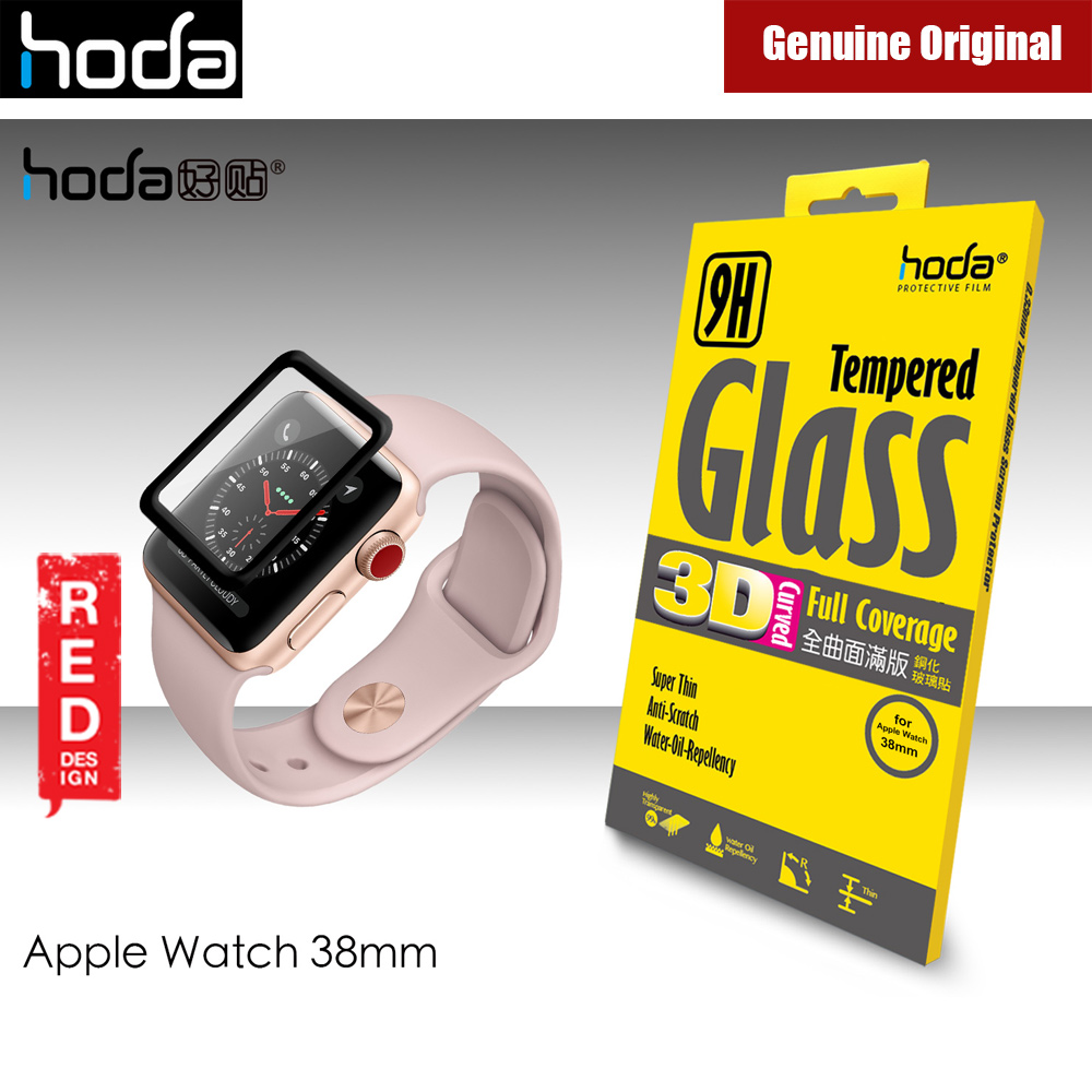 Picture of Hoda 0.33mm Full Coverage Tempered Glass Screen Protector for Apple Watch 38mm (Black) Apple Watch 38mm- Apple Watch 38mm Cases, Apple Watch 38mm Covers, iPad Cases and a wide selection of Apple Watch 38mm Accessories in Malaysia, Sabah, Sarawak and Singapore