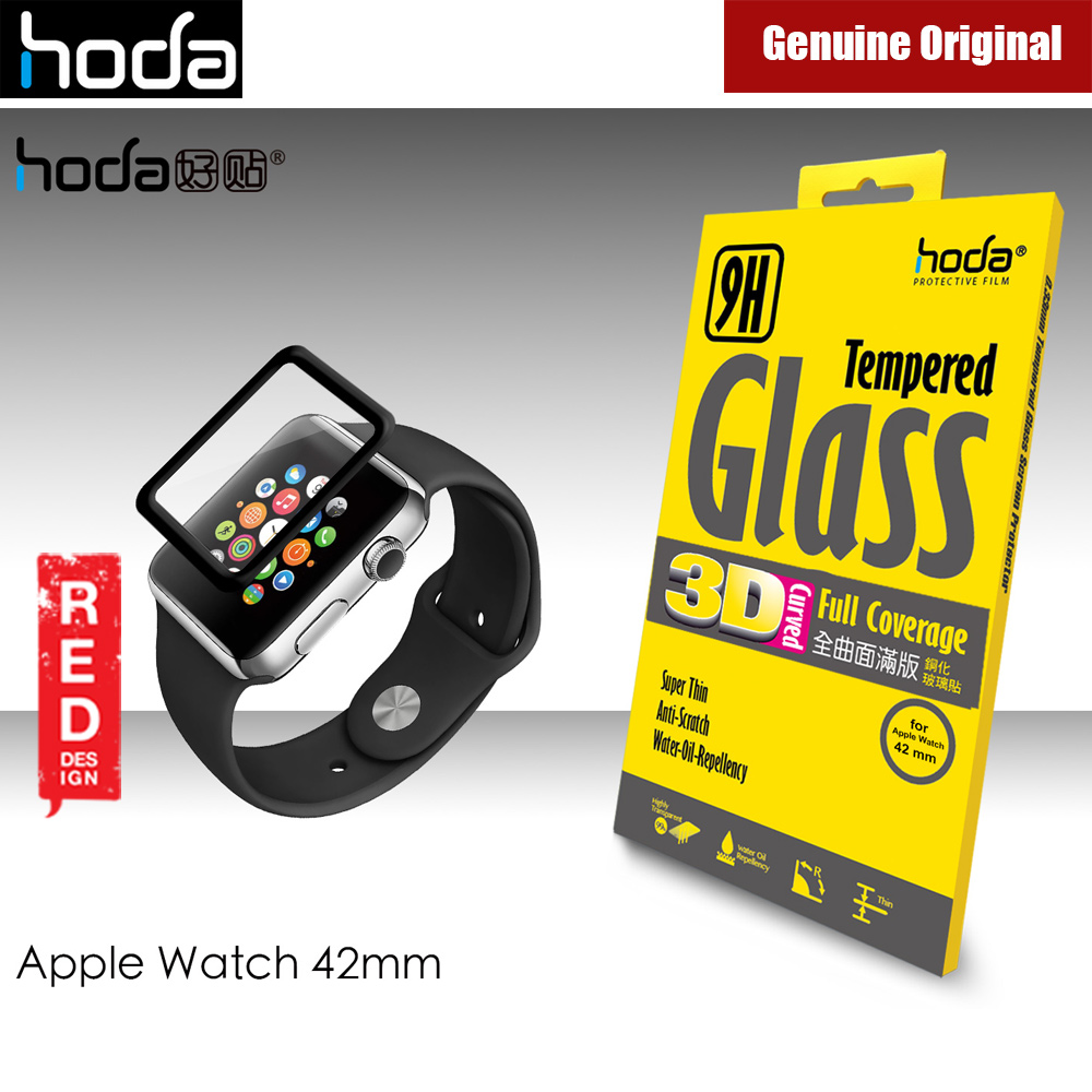 Picture of Hoda 0.33mm Full Coverage Tempered Glass Screen Protector for Apple Watch 42mm (Black) Apple Watch 42mm- Apple Watch 42mm Cases, Apple Watch 42mm Covers, iPad Cases and a wide selection of Apple Watch 42mm Accessories in Malaysia, Sabah, Sarawak and Singapore