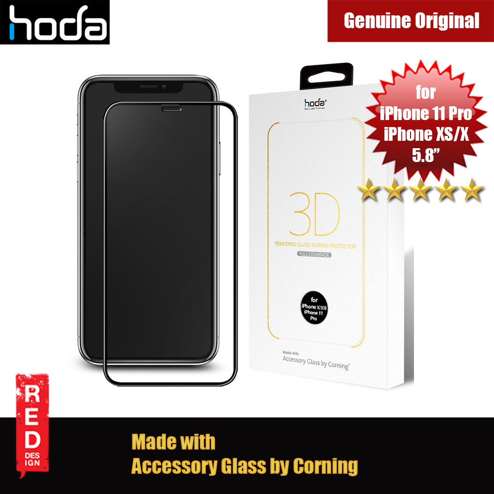 Picture of Hoda 3D 0.33mm Full Coverage Corning 3D Tempered Glass Screen Protector for Apple iPhone XS iPhone 11 Pro 5.8 (Corning 3D) Apple iPhone XS- Apple iPhone XS Cases, Apple iPhone XS Covers, iPad Cases and a wide selection of Apple iPhone XS Accessories in Malaysia, Sabah, Sarawak and Singapore
