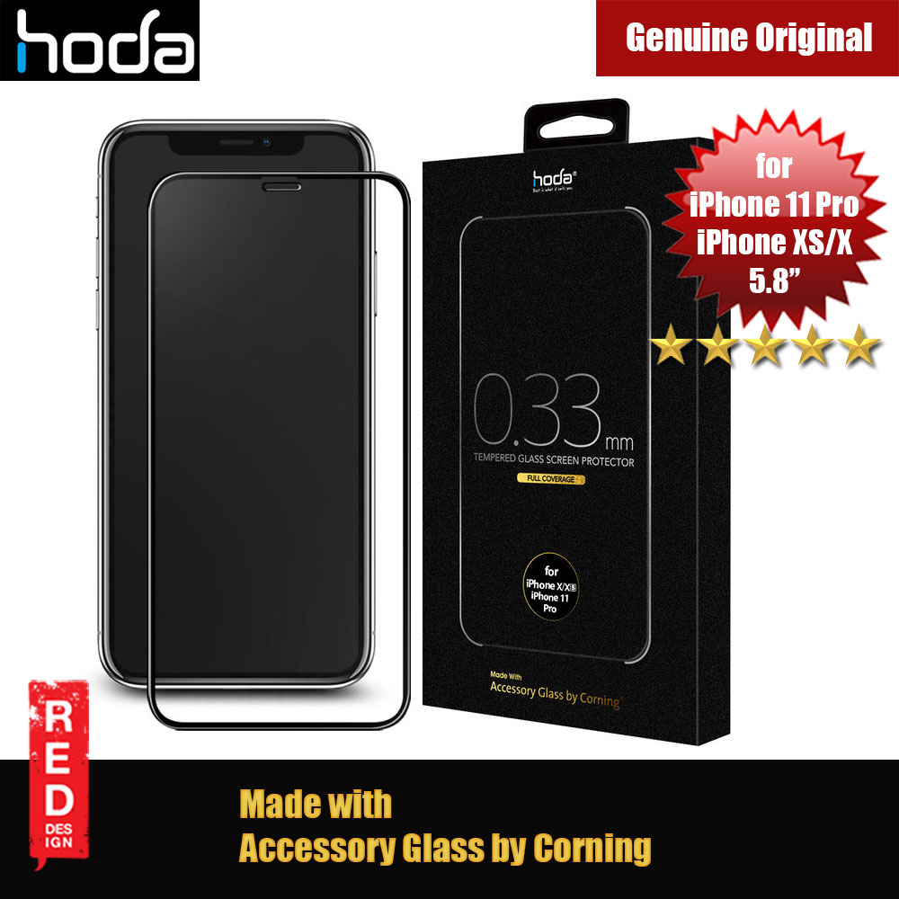 Picture of Hoda 0.33mm Full Coverage Corning Tempered Glass Screen Protector for Apple iPhone XS iPhone 11 Pro 5.8 (Corning) Apple iPhone XS- Apple iPhone XS Cases, Apple iPhone XS Covers, iPad Cases and a wide selection of Apple iPhone XS Accessories in Malaysia, Sabah, Sarawak and Singapore