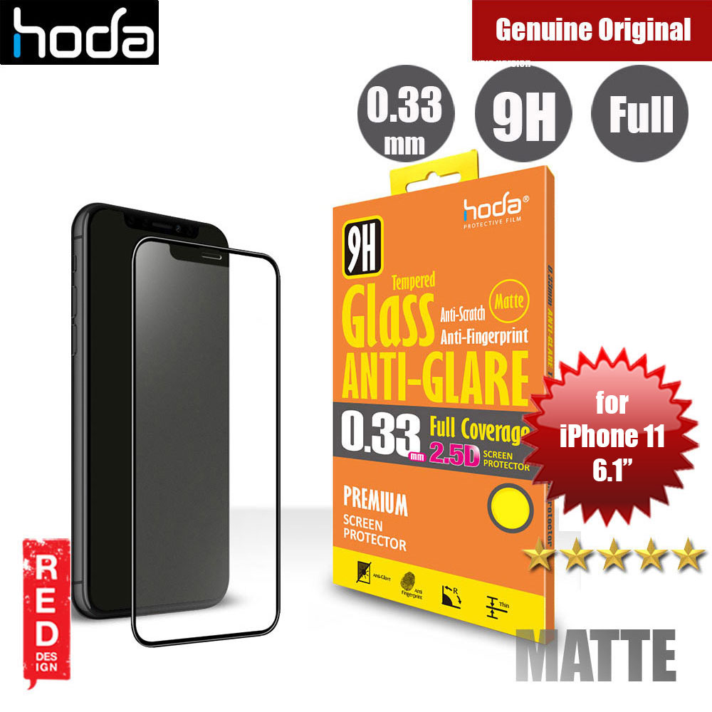 Picture of Hoda 0.33mm Full Coverage Anti Glare Anti Finger Print Matte Tempered Glass Screen Protector for Apple iPhone 11 6.1 (Black) Apple iPhone 11 6.1- Apple iPhone 11 6.1 Cases, Apple iPhone 11 6.1 Covers, iPad Cases and a wide selection of Apple iPhone 11 6.1 Accessories in Malaysia, Sabah, Sarawak and Singapore