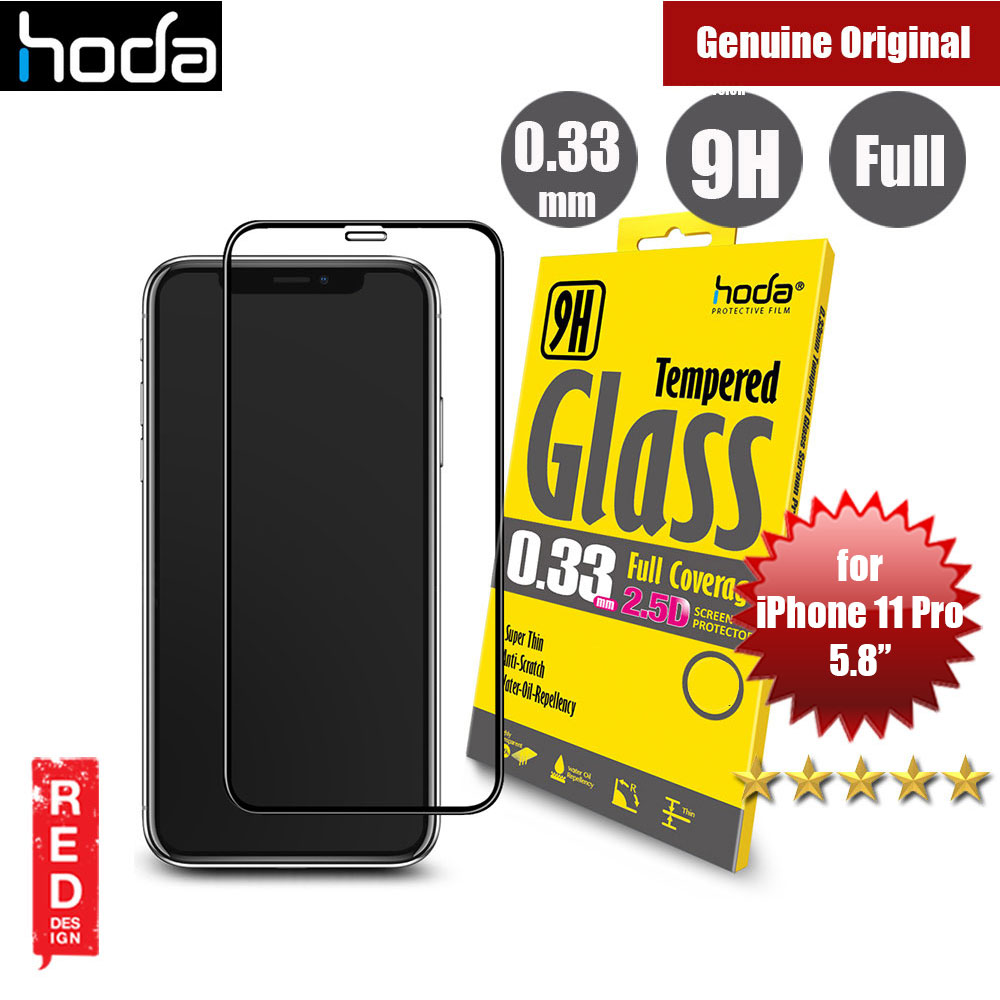 Picture of Hoda 0.33mm Full Coverage Tempered Glass Screen Protector for Apple iPhone 11 Pro 5.8  (Black) Apple iPhone 11 Pro 5.8- Apple iPhone 11 Pro 5.8 Cases, Apple iPhone 11 Pro 5.8 Covers, iPad Cases and a wide selection of Apple iPhone 11 Pro 5.8 Accessories in Malaysia, Sabah, Sarawak and Singapore