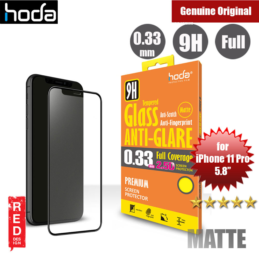 Picture of Hoda 0.33mm Full Coverage Anti Glare Anti Finger Print Matte Tempered Glass Screen Protector for Apple iPhone 11 Pro 5.8 (Black) Apple iPhone 11 Pro 5.8- Apple iPhone 11 Pro 5.8 Cases, Apple iPhone 11 Pro 5.8 Covers, iPad Cases and a wide selection of Apple iPhone 11 Pro 5.8 Accessories in Malaysia, Sabah, Sarawak and Singapore
