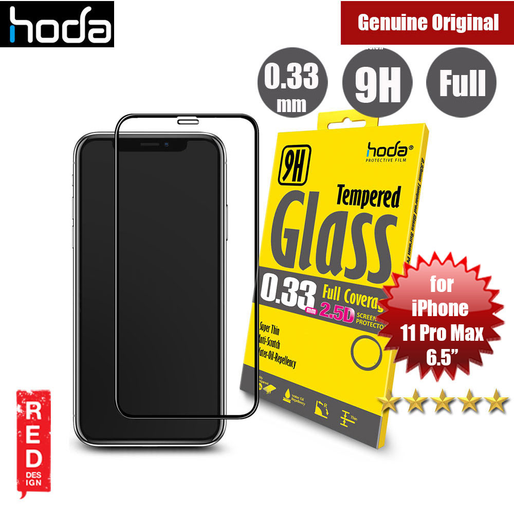 Picture of Hoda 0.33mm Full Coverage Tempered Glass Screen Protector for Apple iPhone 11 Pro Max 6.5  (Black) Apple iPhone 11 Pro Max 6.5- Apple iPhone 11 Pro Max 6.5 Cases, Apple iPhone 11 Pro Max 6.5 Covers, iPad Cases and a wide selection of Apple iPhone 11 Pro Max 6.5 Accessories in Malaysia, Sabah, Sarawak and Singapore