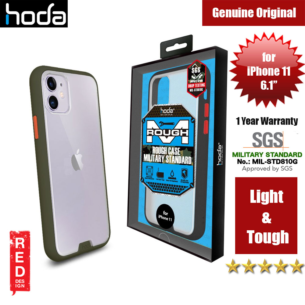 Picture of Hoda Military Standard Rough Case for Apple iPhone 11 (Army Green) Apple iPhone 11 6.1- Apple iPhone 11 6.1 Cases, Apple iPhone 11 6.1 Covers, iPad Cases and a wide selection of Apple iPhone 11 6.1 Accessories in Malaysia, Sabah, Sarawak and Singapore