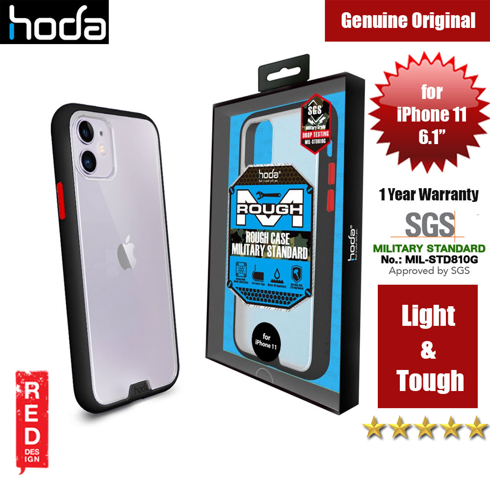 Picture of Hoda Military Standard Rough Case for Apple iPhone 11 (Black) Apple iPhone 11 6.1- Apple iPhone 11 6.1 Cases, Apple iPhone 11 6.1 Covers, iPad Cases and a wide selection of Apple iPhone 11 6.1 Accessories in Malaysia, Sabah, Sarawak and Singapore