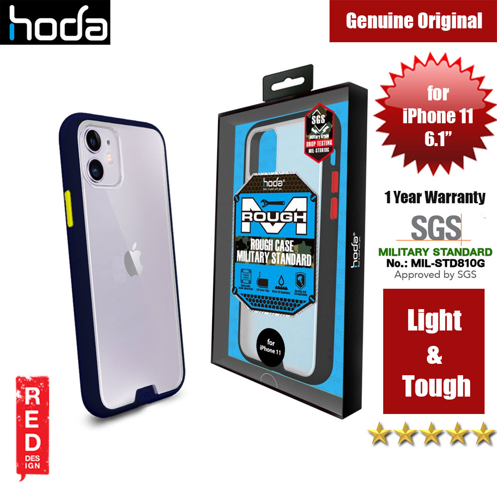Picture of Hoda Military Standard Rough Case for Apple iPhone 11 (Dark Blue) Apple iPhone 11 6.1- Apple iPhone 11 6.1 Cases, Apple iPhone 11 6.1 Covers, iPad Cases and a wide selection of Apple iPhone 11 6.1 Accessories in Malaysia, Sabah, Sarawak and Singapore