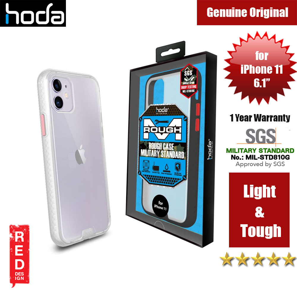 Picture of Hoda Military Standard Rough Case for Apple iPhone 11 (Matte White) Apple iPhone 11 6.1- Apple iPhone 11 6.1 Cases, Apple iPhone 11 6.1 Covers, iPad Cases and a wide selection of Apple iPhone 11 6.1 Accessories in Malaysia, Sabah, Sarawak and Singapore