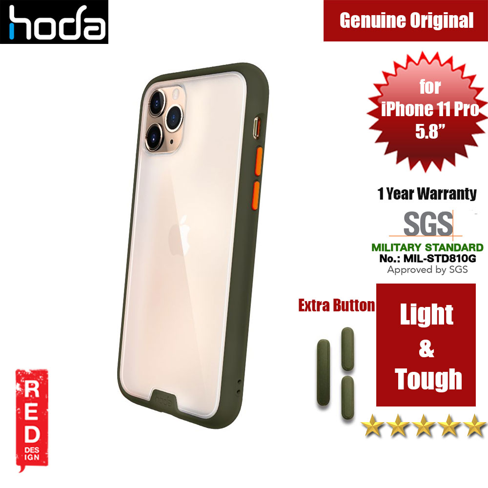Picture of Hoda Military Standard Rough Case for Apple iPhone 11 Pro (Army Green) Apple iPhone 11 Pro 5.8- Apple iPhone 11 Pro 5.8 Cases, Apple iPhone 11 Pro 5.8 Covers, iPad Cases and a wide selection of Apple iPhone 11 Pro 5.8 Accessories in Malaysia, Sabah, Sarawak and Singapore