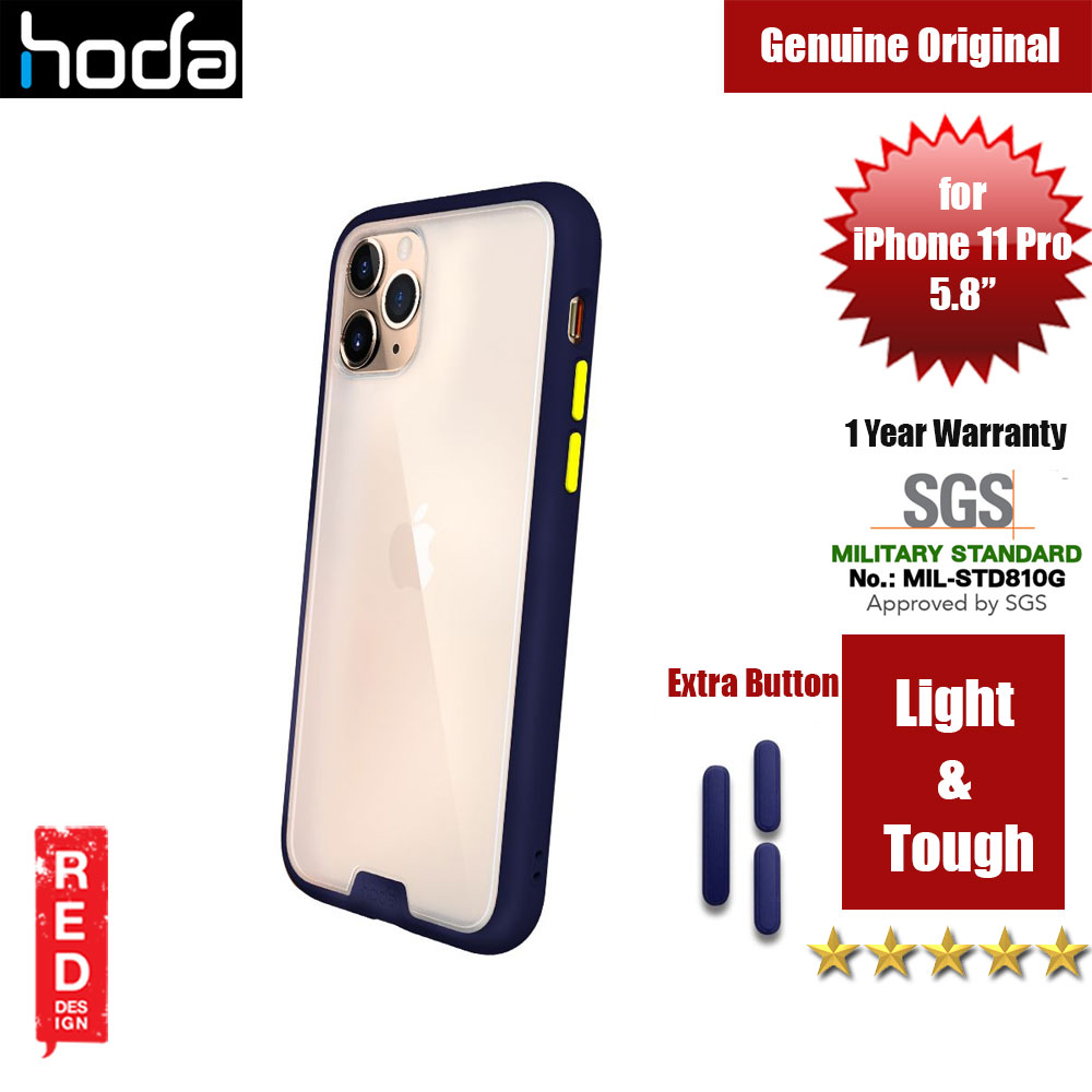 Picture of Hoda Military Standard Rough Case for Apple iPhone 11 Pro (Dark Blue) Apple iPhone 11 Pro 5.8- Apple iPhone 11 Pro 5.8 Cases, Apple iPhone 11 Pro 5.8 Covers, iPad Cases and a wide selection of Apple iPhone 11 Pro 5.8 Accessories in Malaysia, Sabah, Sarawak and Singapore