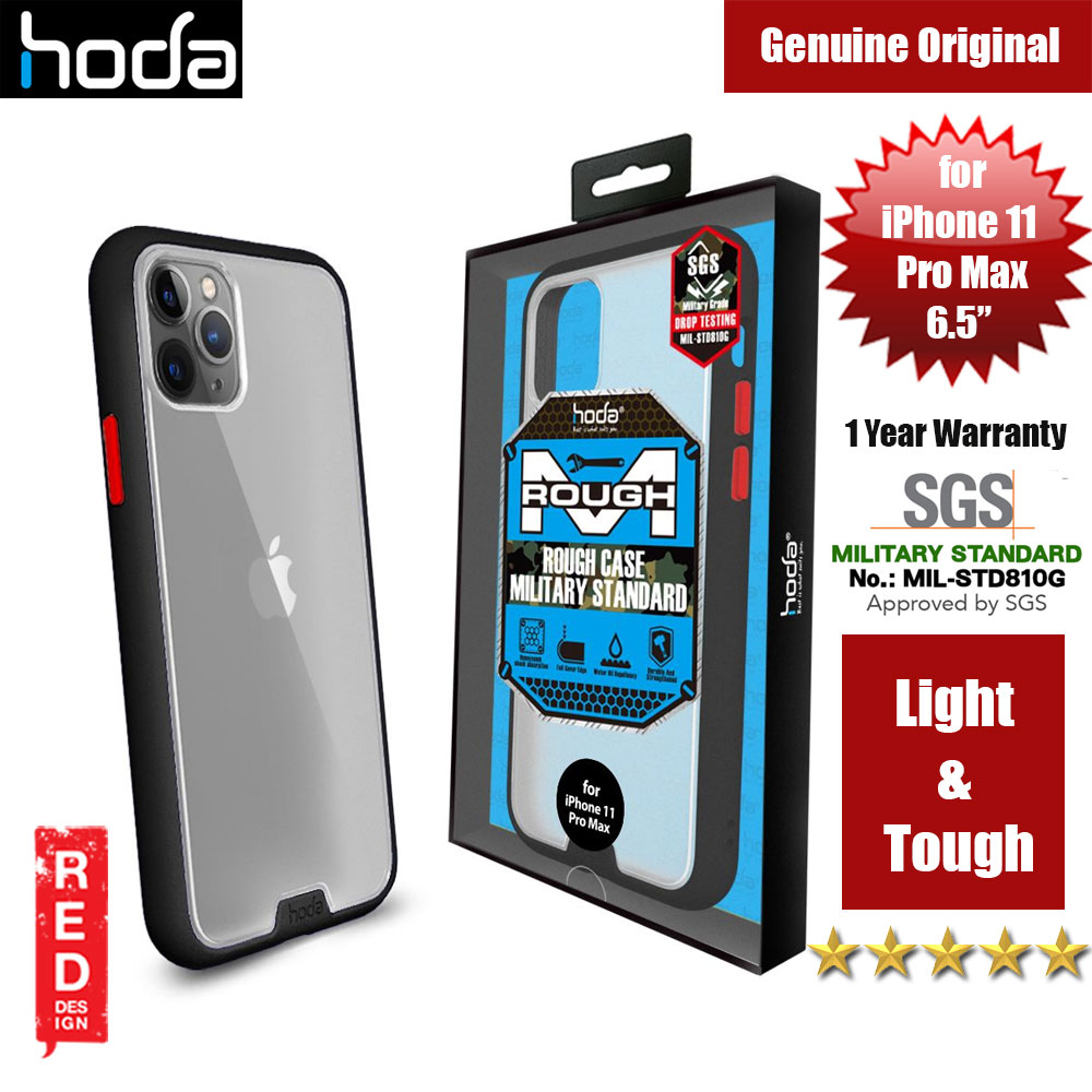 Picture of Hoda Military Standard Rough Case for Apple iPhone 11 Pro Max (Black) Apple iPhone 11 Pro Max 6.5- Apple iPhone 11 Pro Max 6.5 Cases, Apple iPhone 11 Pro Max 6.5 Covers, iPad Cases and a wide selection of Apple iPhone 11 Pro Max 6.5 Accessories in Malaysia, Sabah, Sarawak and Singapore