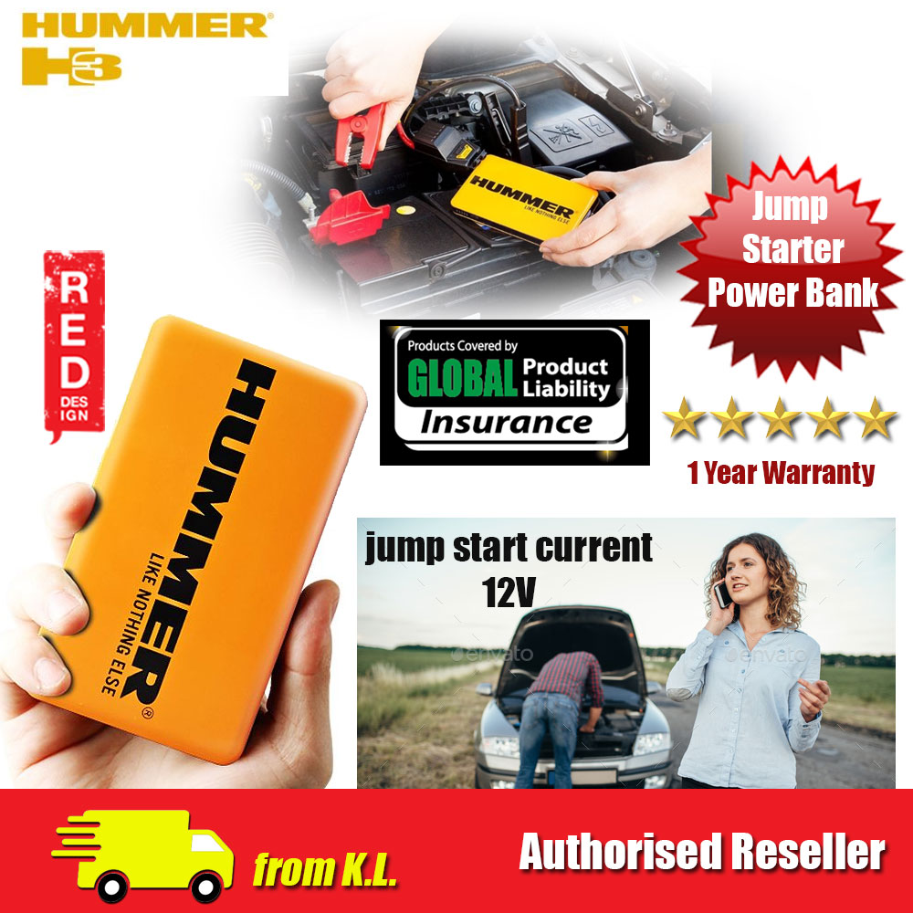 Picture of Hummer H3 Multifunctional Safety Jump Starter 12V 300AMP Power Bank 6000mAh LED Light 3 Modes with Interntional Certification Red Design- Red Design Cases, Red Design Covers, iPad Cases and a wide selection of Red Design Accessories in Malaysia, Sabah, Sarawak and Singapore