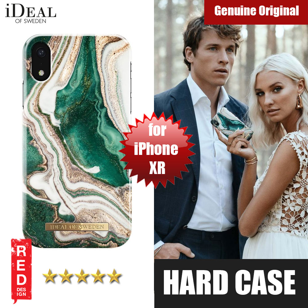 Picture of iDeal of Sweden Fashion Hard Cover Back Case for Apple iPhone XR (Golden Jade Marble) Apple iPhone XR- Apple iPhone XR Cases, Apple iPhone XR Covers, iPad Cases and a wide selection of Apple iPhone XR Accessories in Malaysia, Sabah, Sarawak and Singapore