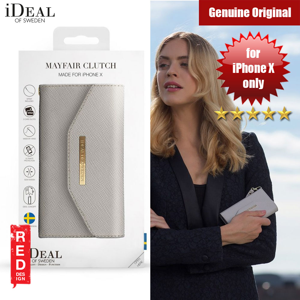 Picture of iDeal of Sweden MAYFAIR CLUTCH IPHONE X (LIGHT GREY) Apple iPhone X- Apple iPhone X Cases, Apple iPhone X Covers, iPad Cases and a wide selection of Apple iPhone X Accessories in Malaysia, Sabah, Sarawak and Singapore