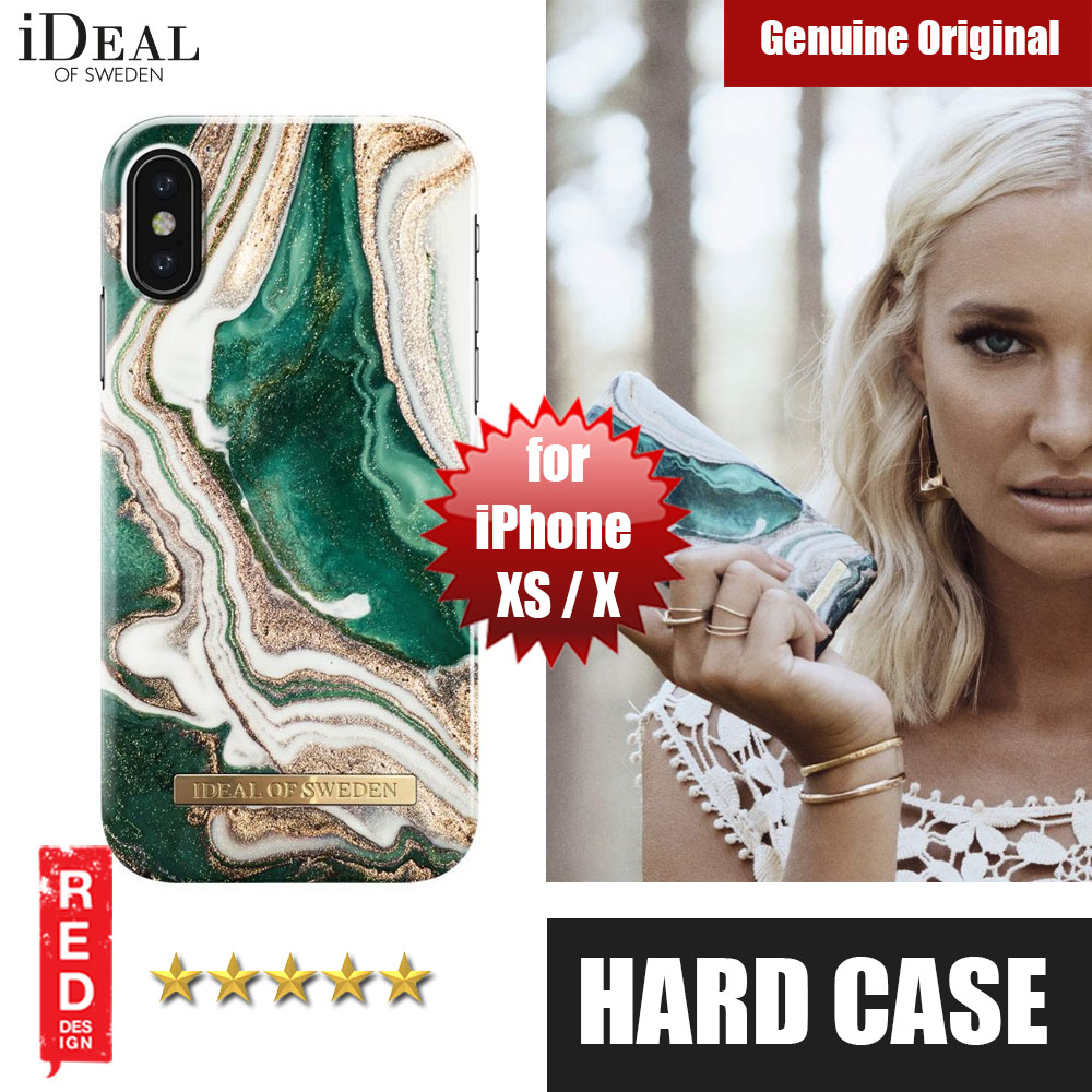 Picture of iDeal of Sweden Fashion Hard Cover Back Case for Apple iPhone XS iPhone X(Golden Jade Marble) Apple iPhone X- Apple iPhone X Cases, Apple iPhone X Covers, iPad Cases and a wide selection of Apple iPhone X Accessories in Malaysia, Sabah, Sarawak and Singapore
