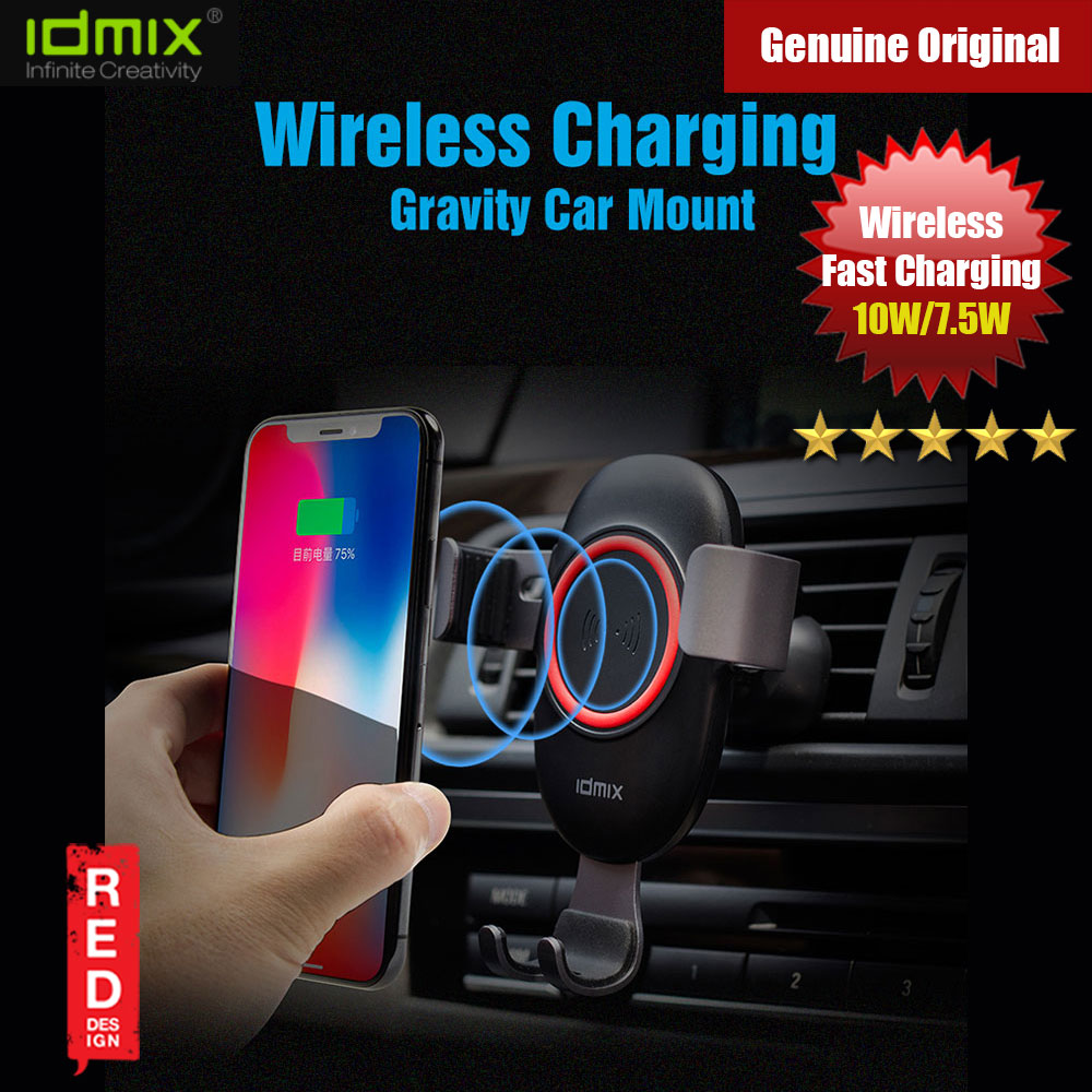 Picture of IDMIX Gravity induction car wireless charging navigation bracket Car mount for iPhone XS Max iPhone 8 Plus Red Design- Red Design Cases, Red Design Covers, iPad Cases and a wide selection of Red Design Accessories in Malaysia, Sabah, Sarawak and Singapore