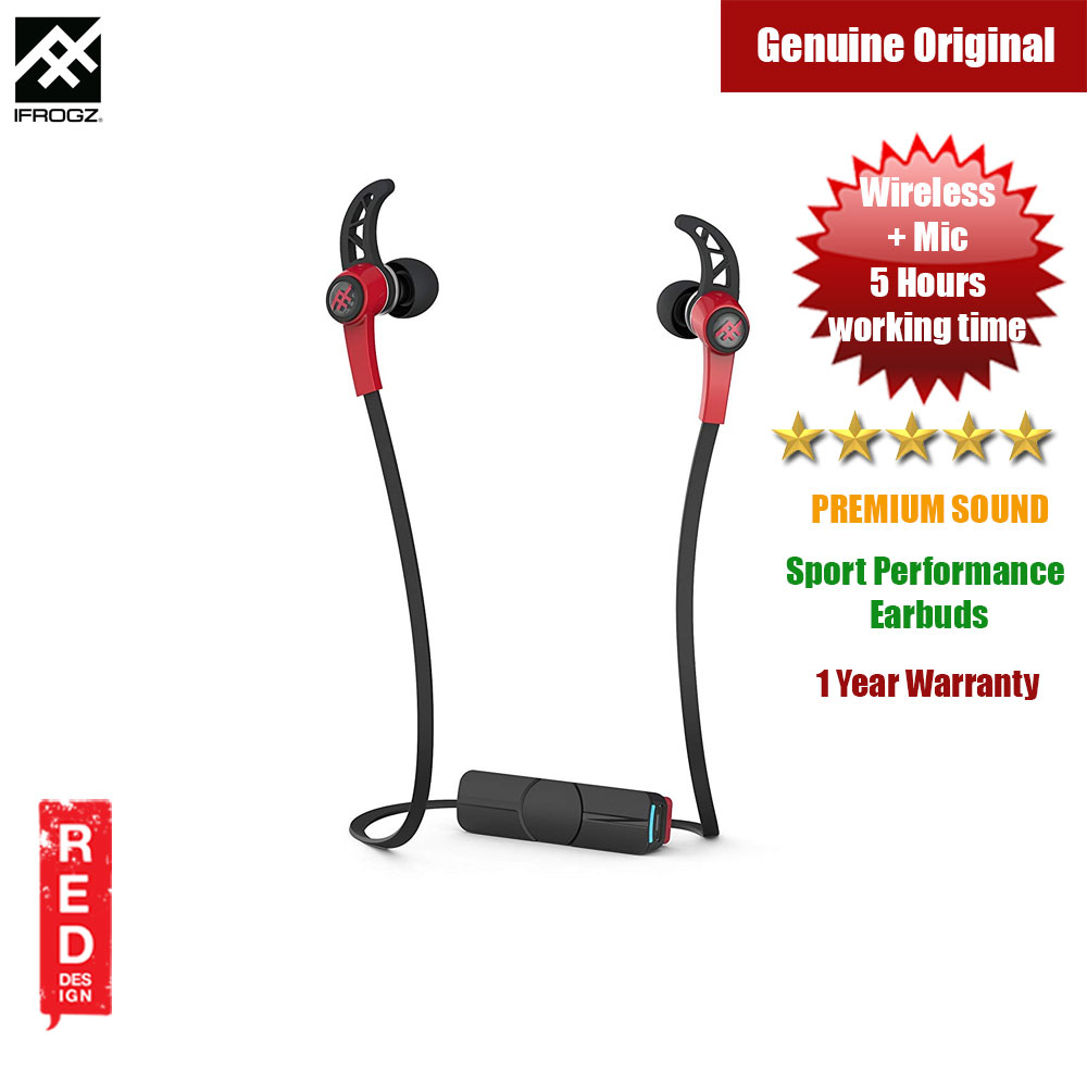 Picture of iFrogz Summit Wireless Bluetooth Sport-Performance Earbuds (Red) Red Design- Red Design Cases, Red Design Covers, iPad Cases and a wide selection of Red Design Accessories in Malaysia, Sabah, Sarawak and Singapore