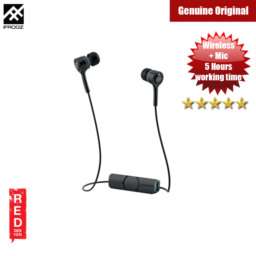 Picture of iFrogz Coda Wireless Earphone Earbuds (Black) Red Design- Red Design Cases, Red Design Covers, iPad Cases and a wide selection of Red Design Accessories in Malaysia, Sabah, Sarawak and Singapore