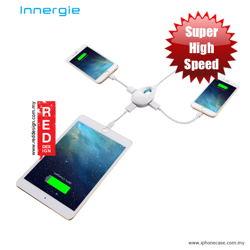 Picture of Innergie LifeHub Plus 3-port Mobile Super-Speed Charging Hub Red Design- Red Design Cases, Red Design Covers, iPad Cases and a wide selection of Red Design Accessories in Malaysia, Sabah, Sarawak and Singapore