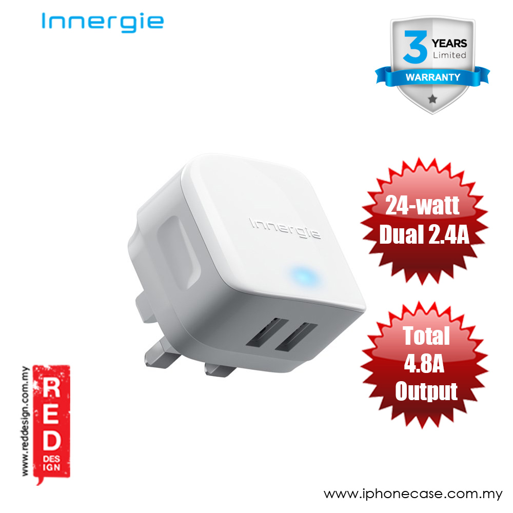 Picture of Innergie PowerJoy Pro 24 24-watt Dual 2.4A USB Wall Charger (UK) Red Design- Red Design Cases, Red Design Covers, iPad Cases and a wide selection of Red Design Accessories in Malaysia, Sabah, Sarawak and Singapore