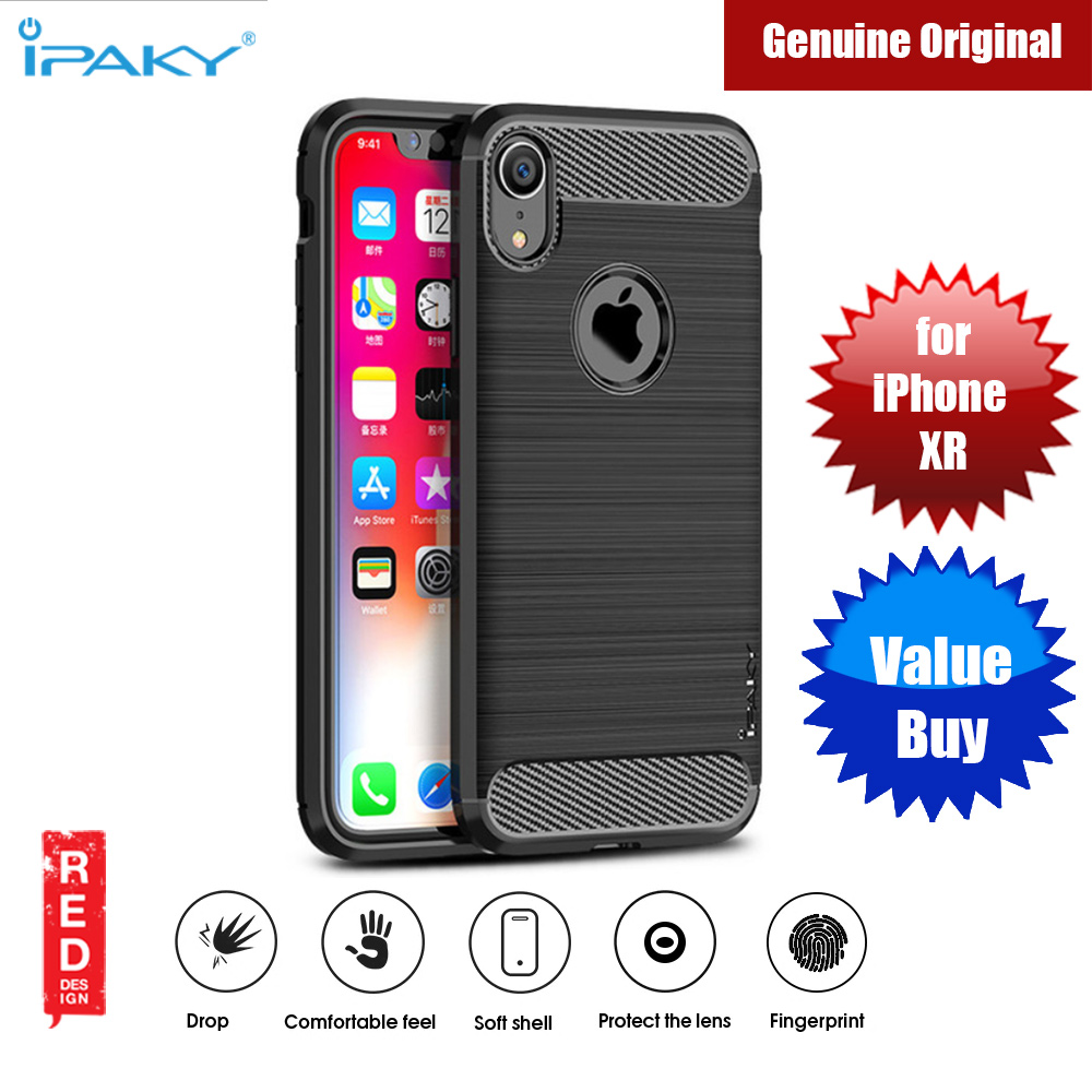 Picture of iPaky Luxury Carbon Fiber Texture Rugged Silicone Shock Proof Case for Apple iPhone XR (Black) Apple iPhone XR- Apple iPhone XR Cases, Apple iPhone XR Covers, iPad Cases and a wide selection of Apple iPhone XR Accessories in Malaysia, Sabah, Sarawak and Singapore
