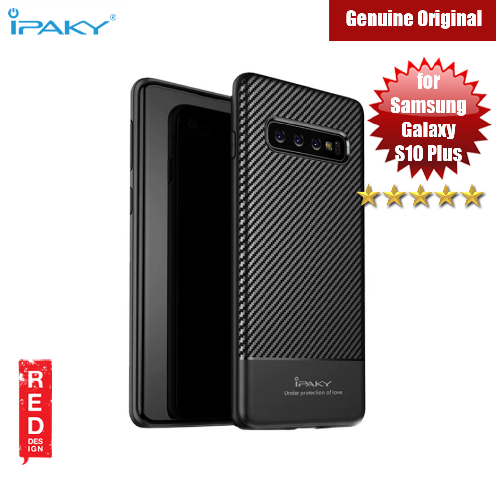 Picture of iPaky Luxury Carbon Fiber Texture Silicone Shock Proof Case for Samsung Galaxy S10 Plus (Black) Samsung Galaxy S10 Plus- Samsung Galaxy S10 Plus Cases, Samsung Galaxy S10 Plus Covers, iPad Cases and a wide selection of Samsung Galaxy S10 Plus Accessories in Malaysia, Sabah, Sarawak and Singapore