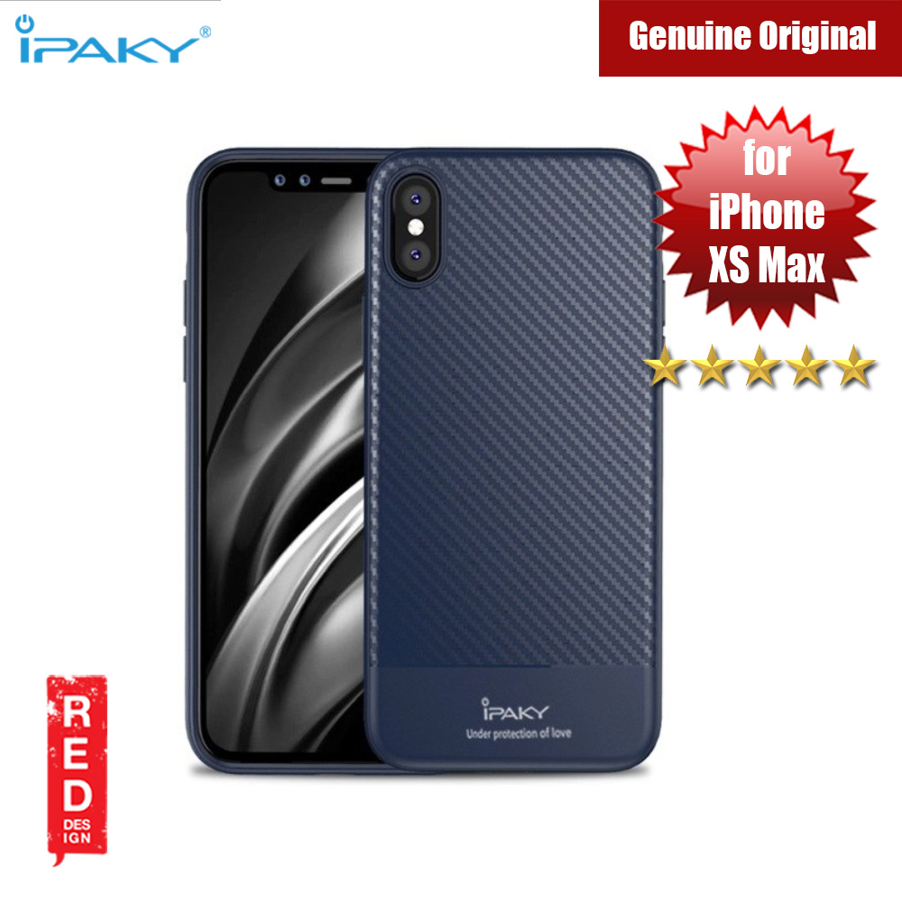 Picture of iPaky Luxury Carbon Fiber Texture Silicone Shock Proof Case for Apple iPhone XS Max (Midnight Blue) Apple iPhone XS Max- Apple iPhone XS Max Cases, Apple iPhone XS Max Covers, iPad Cases and a wide selection of Apple iPhone XS Max Accessories in Malaysia, Sabah, Sarawak and Singapore