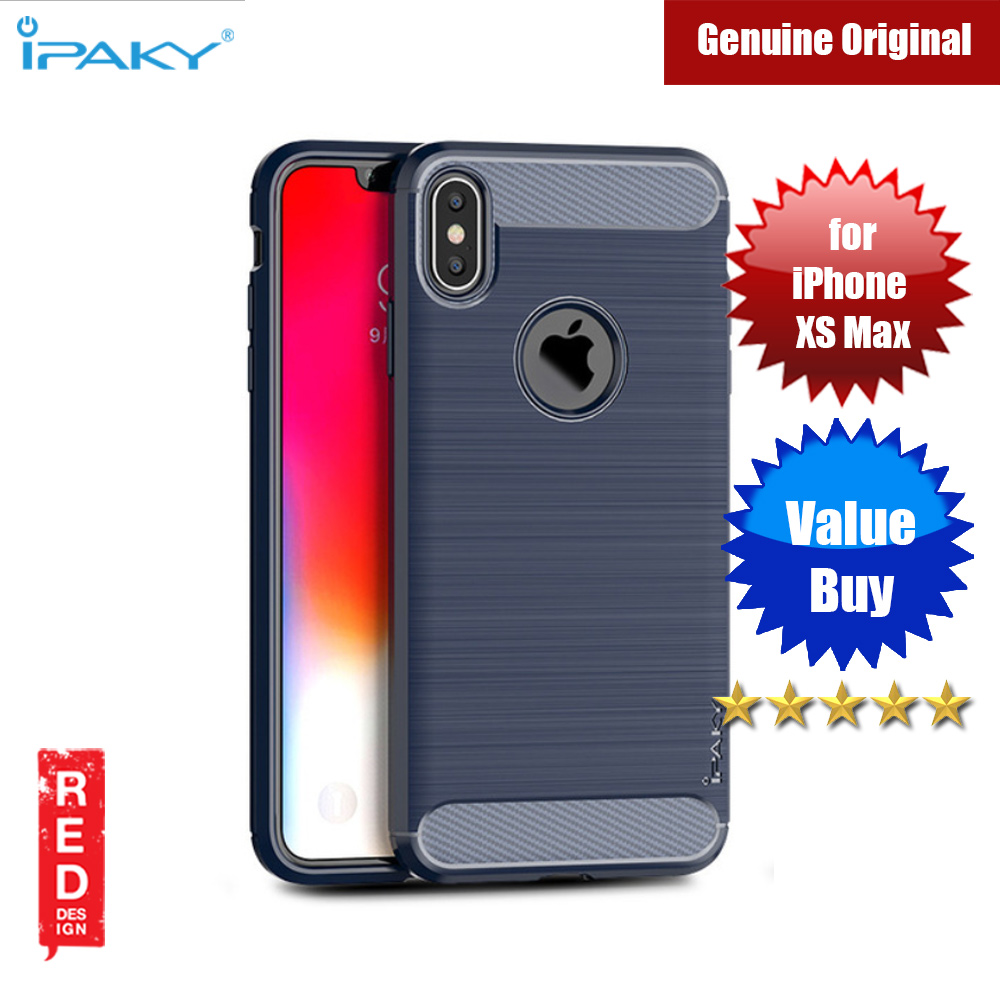 Picture of iPaky Luxury Carbon Fiber Texture Rugged Silicone Shock Proof Case for Apple iPhone XS Max (Blue) Apple iPhone XS Max- Apple iPhone XS Max Cases, Apple iPhone XS Max Covers, iPad Cases and a wide selection of Apple iPhone XS Max Accessories in Malaysia, Sabah, Sarawak and Singapore