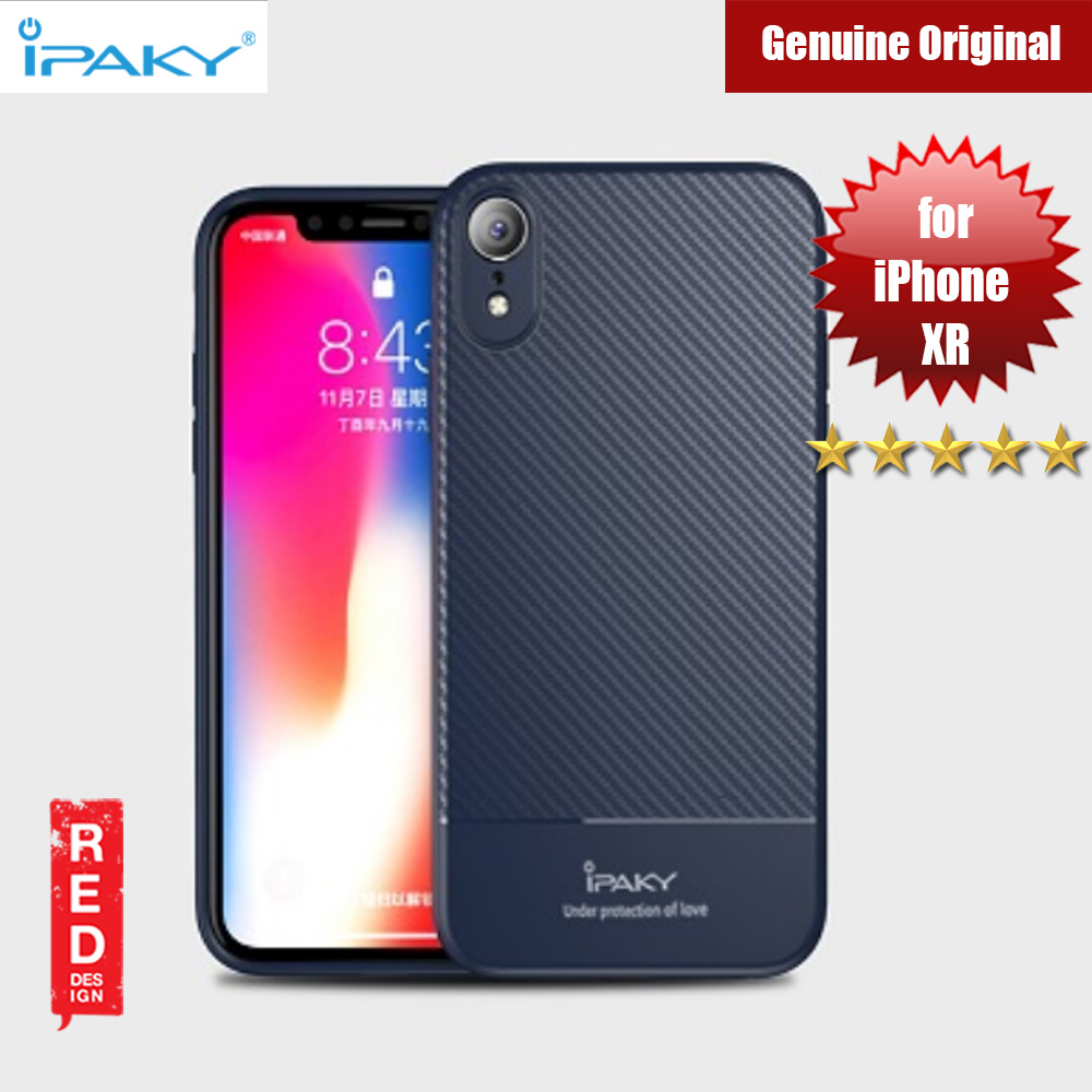 Picture of iPaky Luxury Carbon Fiber Texture Silicone Shock Proof Case for Apple iPhone XR (Blue) Apple iPhone XR- Apple iPhone XR Cases, Apple iPhone XR Covers, iPad Cases and a wide selection of Apple iPhone XR Accessories in Malaysia, Sabah, Sarawak and Singapore