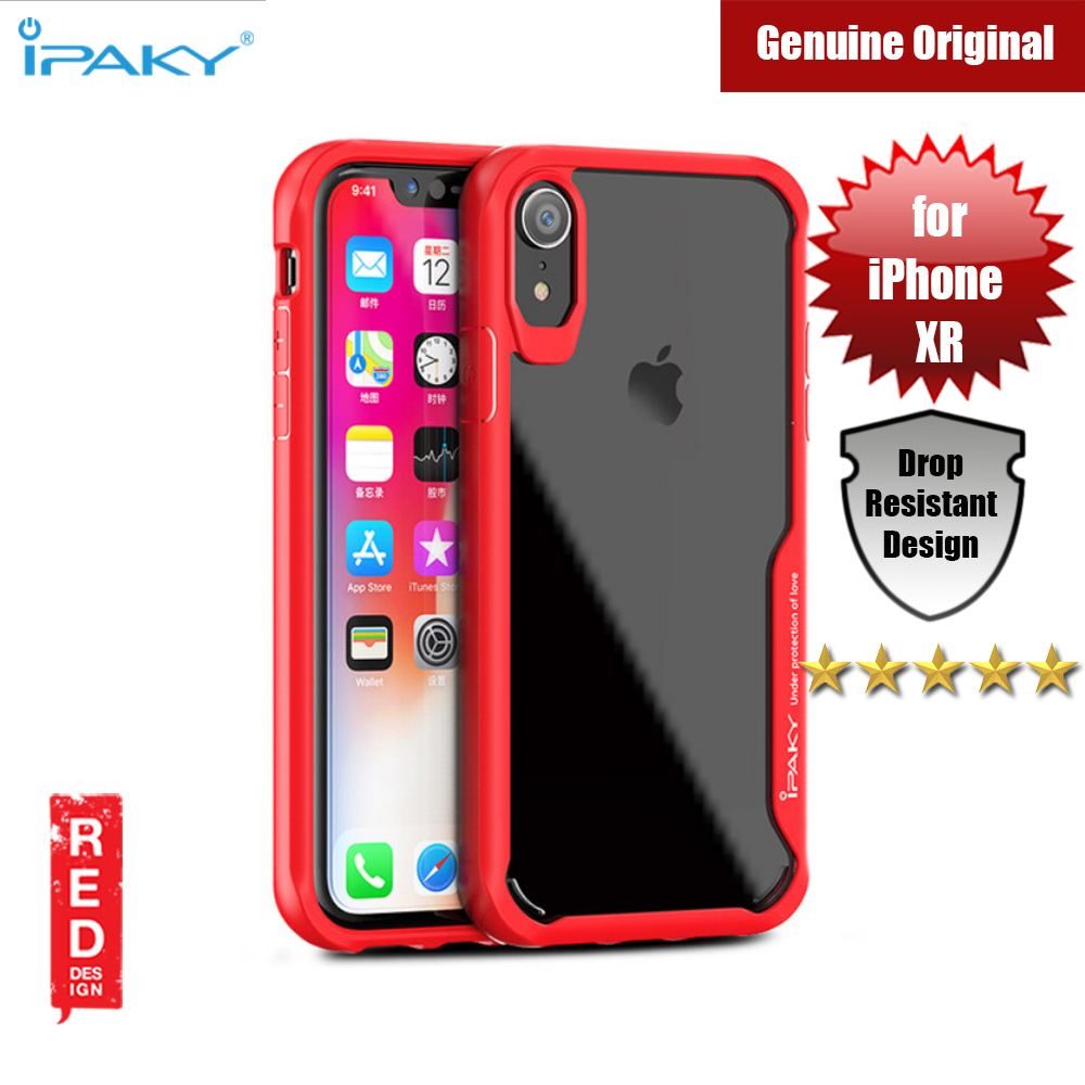 Picture of Apple iPhone XR  | iPaky Anti knock Shockproof Protective Silicone Camera Lens Protection Cover For Apple iPhone XR (Red)