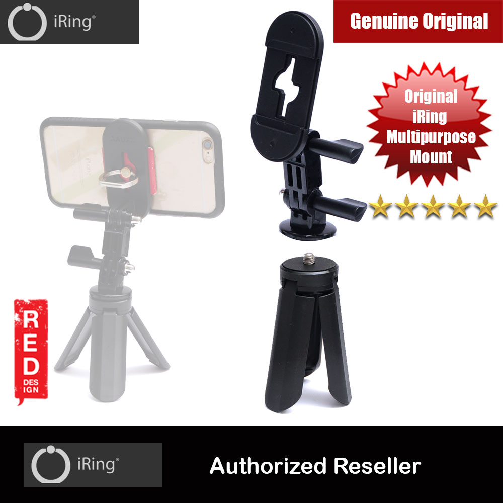 Picture of AAUXX Original iRing Universal Multipurpose iRing Mount with Mini Tripod Set Universal iRing Mount for Selfie Stick Monopod Mount Red Design- Red Design Cases, Red Design Covers, iPad Cases and a wide selection of Red Design Accessories in Malaysia, Sabah, Sarawak and Singapore