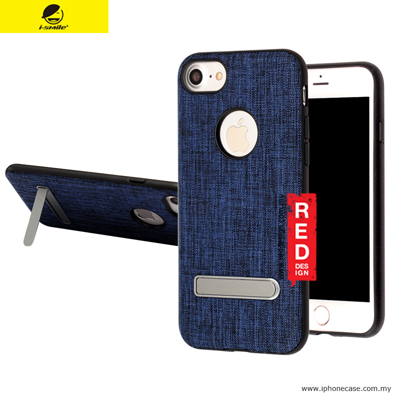Picture of iSmile JunQing Series Fabric Kickstand Back Cover Case for Apple iPhone 7 iPhone 8 4.7 - Navy Blue Apple iPhone 8- Apple iPhone 8 Cases, Apple iPhone 8 Covers, iPad Cases and a wide selection of Apple iPhone 8 Accessories in Malaysia, Sabah, Sarawak and Singapore