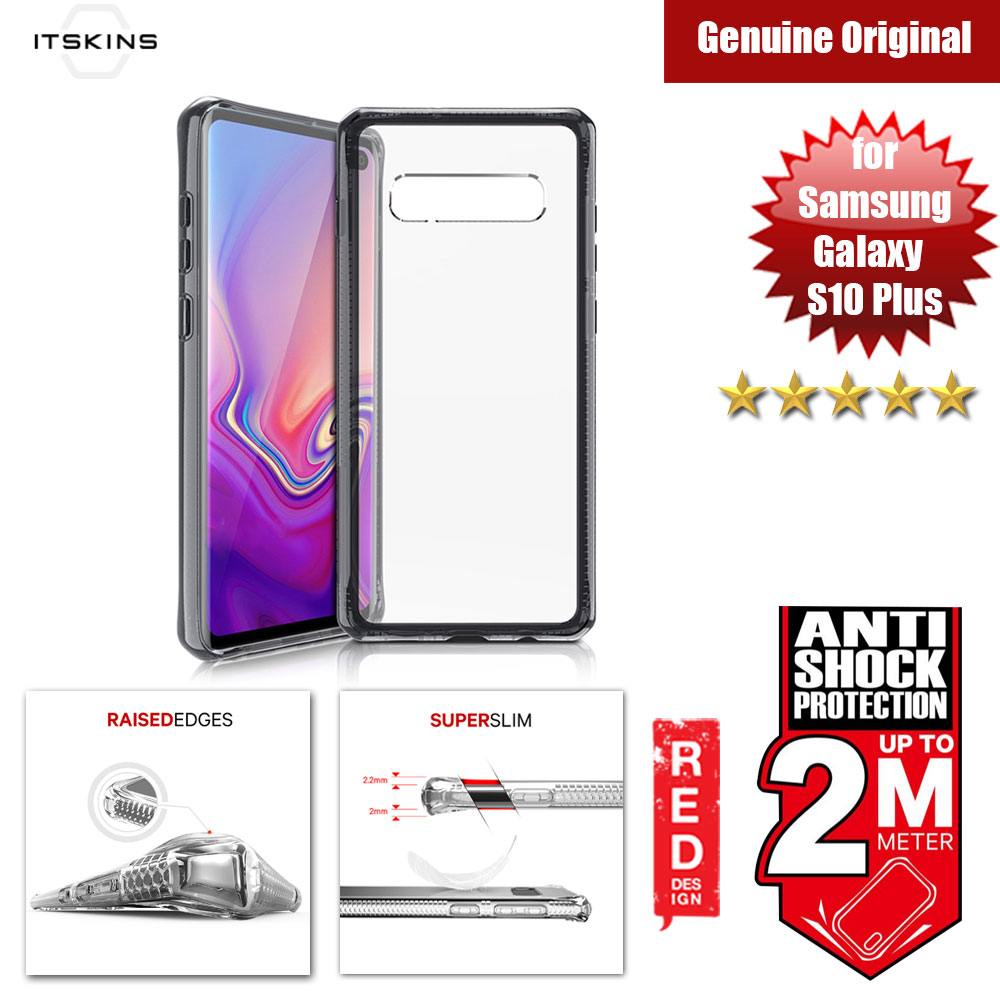 Picture of ITSKINS HybridClear Protection Case for Samsung Galaxy S10 Plus (Black) Samsung Galaxy S10 Plus- Samsung Galaxy S10 Plus Cases, Samsung Galaxy S10 Plus Covers, iPad Cases and a wide selection of Samsung Galaxy S10 Plus Accessories in Malaysia, Sabah, Sarawak and Singapore