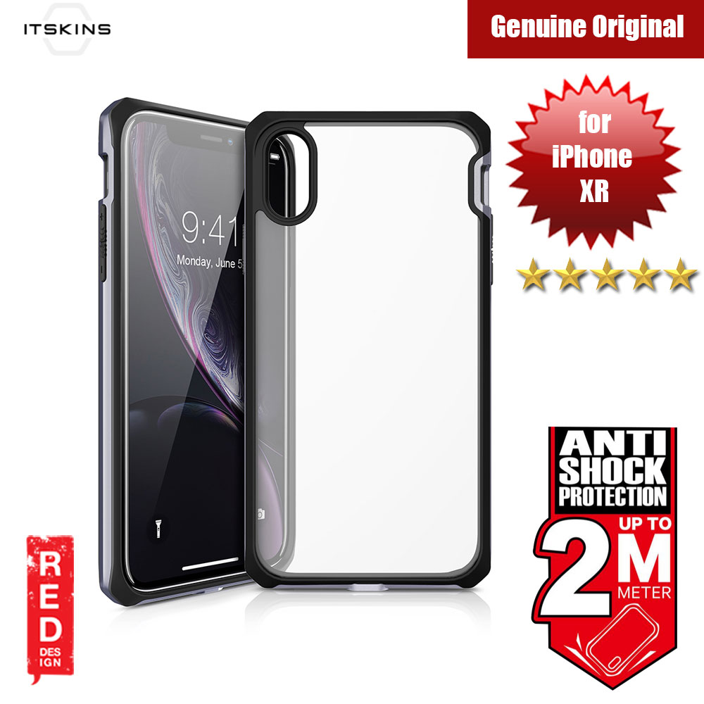 Picture of ITSKINS HYBRIDEDGE Protection Case for Apple iPhone XR (Space Grey Black) Apple iPhone XR- Apple iPhone XR Cases, Apple iPhone XR Covers, iPad Cases and a wide selection of Apple iPhone XR Accessories in Malaysia, Sabah, Sarawak and Singapore