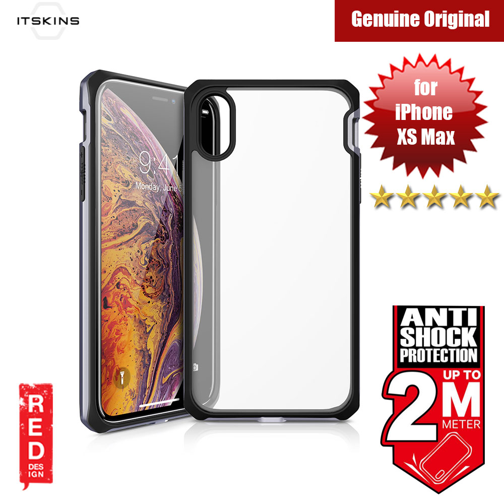 Picture of ITSKINS HYBRIDEDGE Protection Case for Apple iPhone XS Max (Space Grey Black) Apple iPhone XS Max- Apple iPhone XS Max Cases, Apple iPhone XS Max Covers, iPad Cases and a wide selection of Apple iPhone XS Max Accessories in Malaysia, Sabah, Sarawak and Singapore