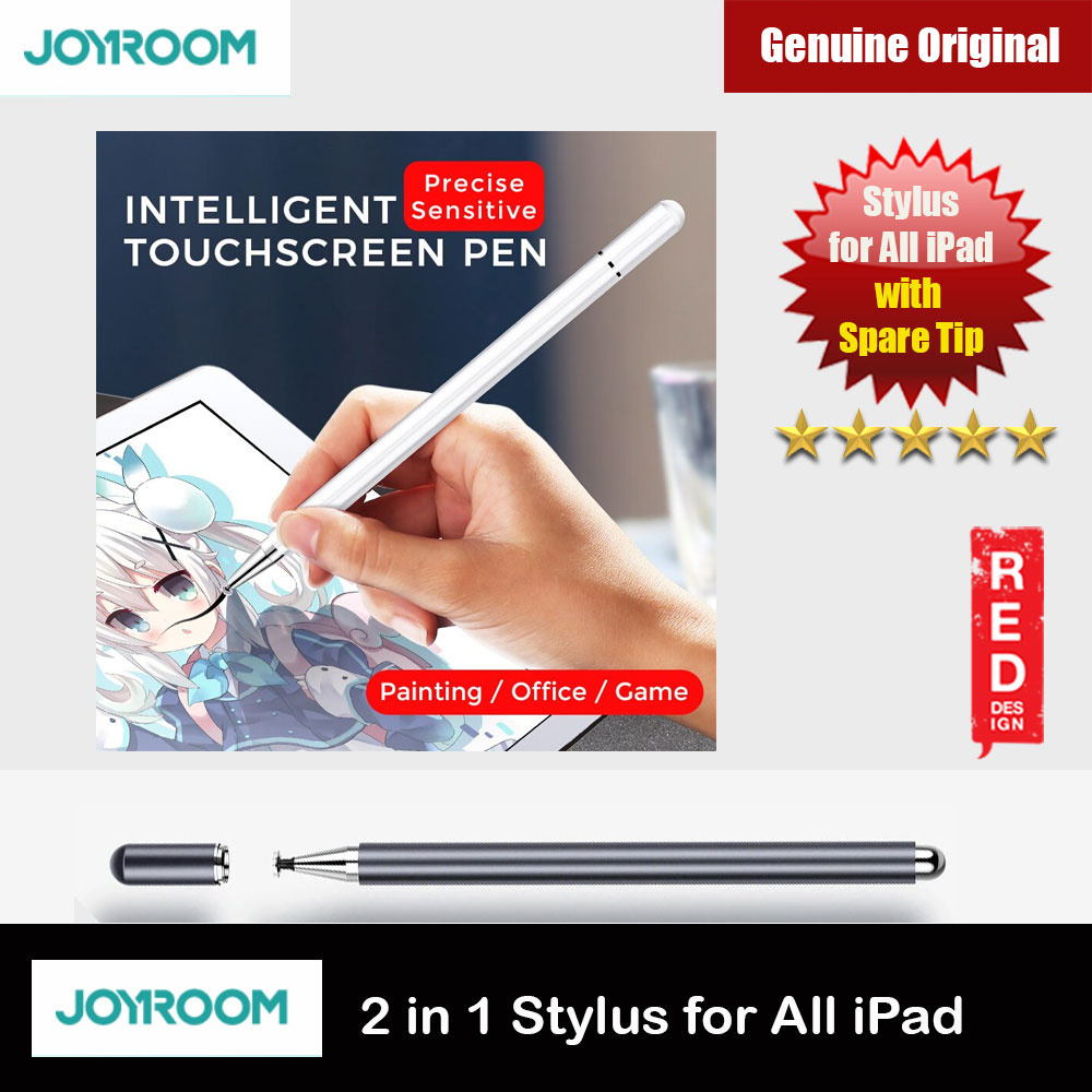 Picture of Joyroom Capacitive Touch Pen Stylus for iPads iPad Pro Tablets 175mm with Extra Tip (Gunmetal) Red Design- Red Design Cases, Red Design Covers, iPad Cases and a wide selection of Red Design Accessories in Malaysia, Sabah, Sarawak and Singapore