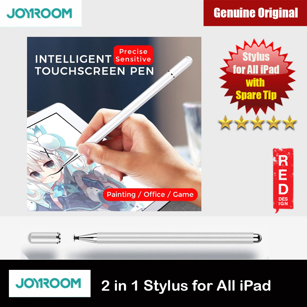 Picture of Joyroom Capacitive Touch Pen Stylus for iPads iPad Pro Tablets 175mm with Extra Tip (Silver) Red Design- Red Design Cases, Red Design Covers, iPad Cases and a wide selection of Red Design Accessories in Malaysia, Sabah, Sarawak and Singapore