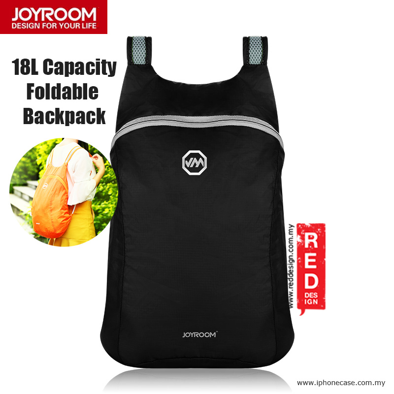 Picture of Joyroom Outdoor 18L Capacity Fodable Mini Backpack - Black Red Design- Red Design Cases, Red Design Covers, iPad Cases and a wide selection of Red Design Accessories in Malaysia, Sabah, Sarawak and Singapore