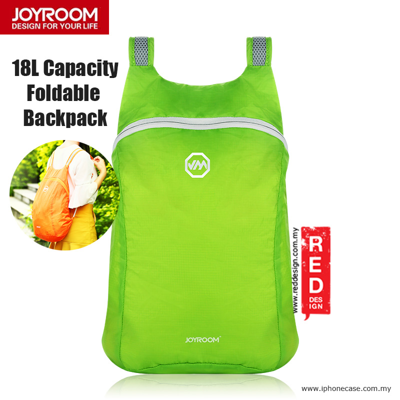 Picture of Joyroom Outdoor 18L Capacity Fodable Mini Backpack - Green Red Design- Red Design Cases, Red Design Covers, iPad Cases and a wide selection of Red Design Accessories in Malaysia, Sabah, Sarawak and Singapore