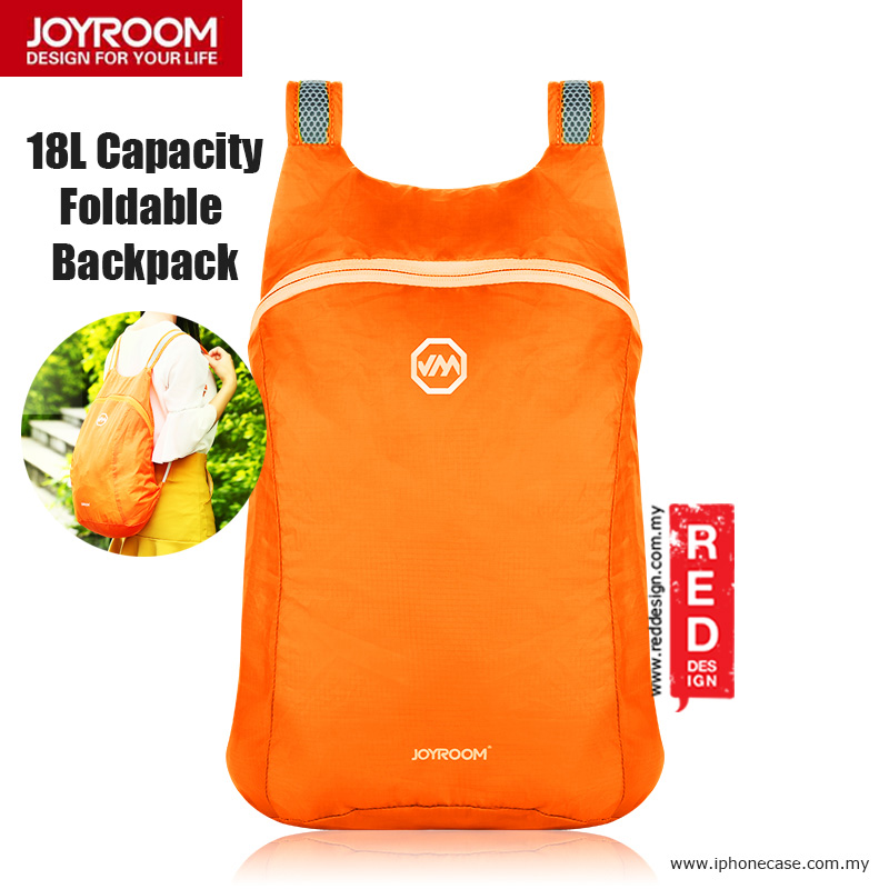 Picture of Joyroom Outdoor 18L Capacity Fodable Mini Backpack - Orange Red Design- Red Design Cases, Red Design Covers, iPad Cases and a wide selection of Red Design Accessories in Malaysia, Sabah, Sarawak and Singapore