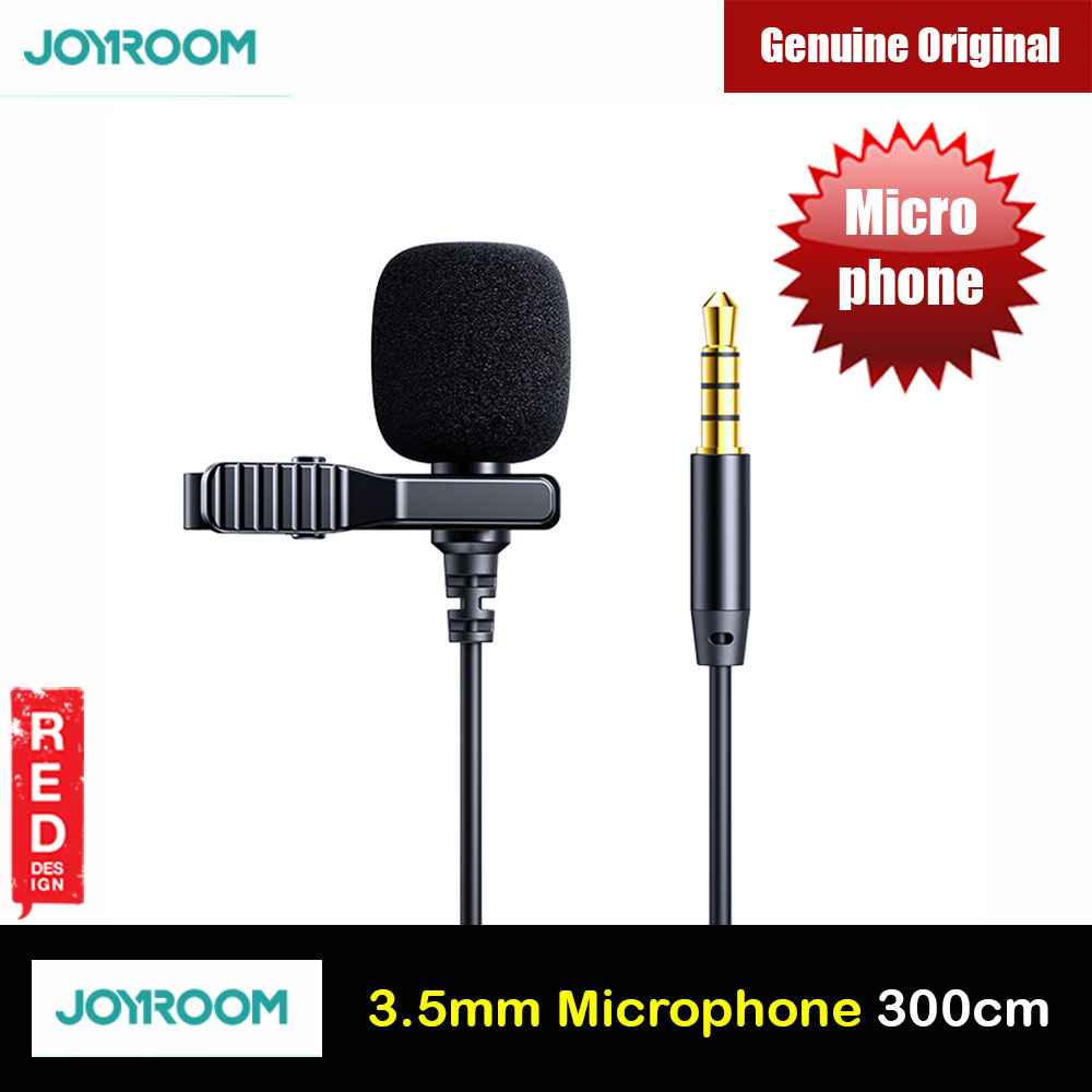 Picture of Joyroom Lavalier Lapel Microphone Mini Portable Hand Free Clip Foam Microphone for Mobile Phone Sound Card Camera Computer for Online Class Teaching Live Streaming Video Recording Interview Red Design- Red Design Cases, Red Design Covers, iPad Cases and a wide selection of Red Design Accessories in Malaysia, Sabah, Sarawak and Singapore