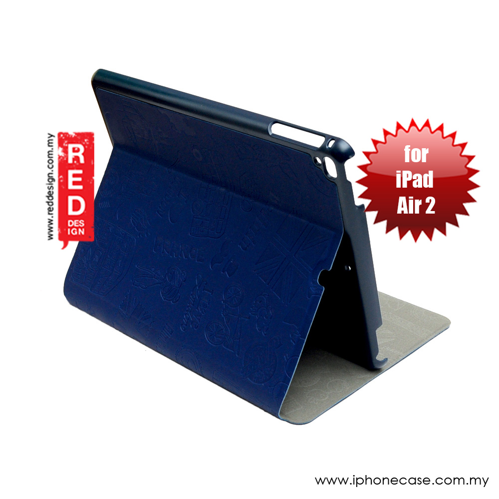 Picture of KAKU Travel Series Stand Case for  iPad Air 2 (Navy Blue) Apple iPad Air 2- Apple iPad Air 2 Cases, Apple iPad Air 2 Covers, iPad Cases and a wide selection of Apple iPad Air 2 Accessories in Malaysia, Sabah, Sarawak and Singapore