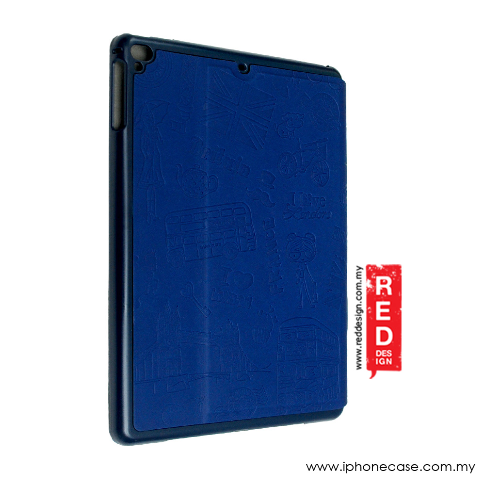 Picture of Apple iPad Air 2 Case | KAKU Travel Series Stand Case for  iPad Air 2 (Navy Blue)