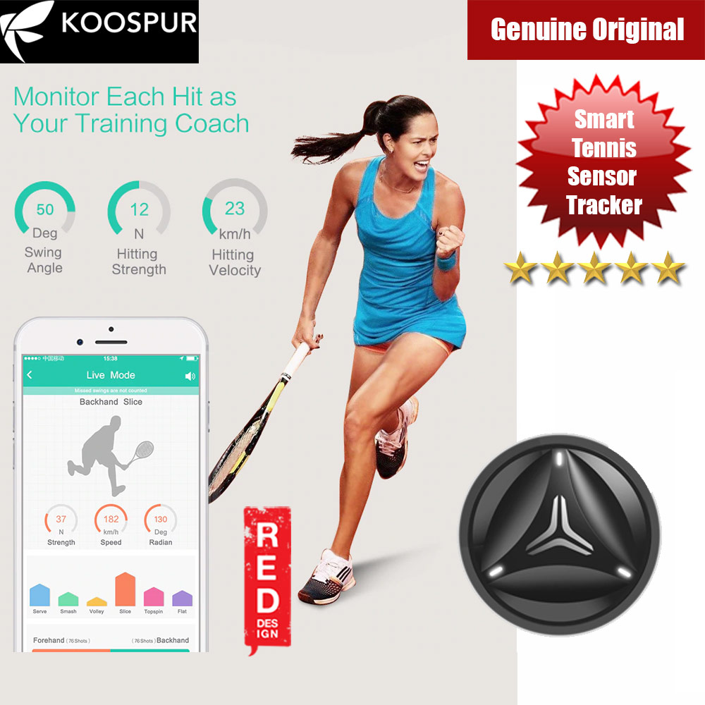 Picture of Coollang Smart Tennis Forehand Backhand Smash Swing Speed Sensor Tracker Motion Analyzer Bluetooth 4.0 Sport Tracker Compatible with Android IOS Smartphone (Black) Red Design- Red Design Cases, Red Design Covers, iPad Cases and a wide selection of Red Design Accessories in Malaysia, Sabah, Sarawak and Singapore