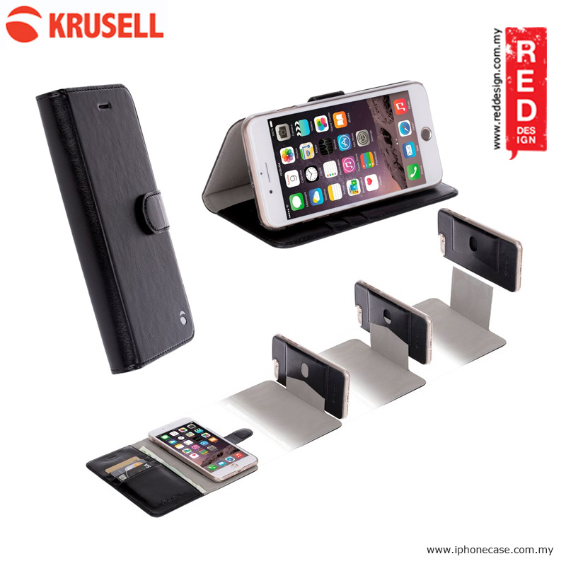 Picture of Krusell Ekero FolioWallet 2in1 Case for Apple iPhone 7 Plus iPhone 8 Plus 5.5 - Black Apple iPhone 8 Plus- Apple iPhone 8 Plus Cases, Apple iPhone 8 Plus Covers, iPad Cases and a wide selection of Apple iPhone 8 Plus Accessories in Malaysia, Sabah, Sarawak and Singapore