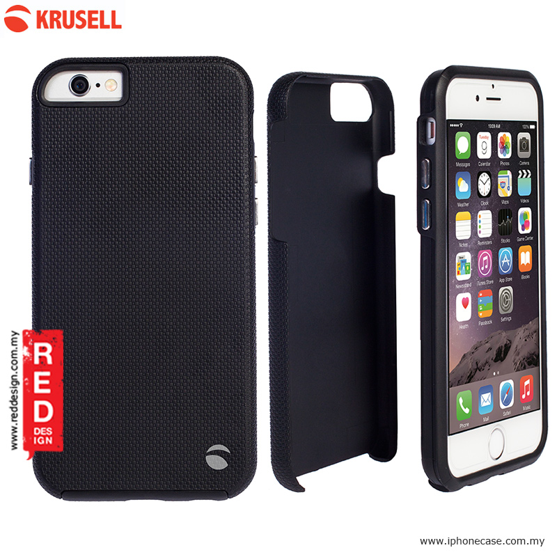 Picture of Apple iPhone 6 Plus 5.5 Case | Krusell Mora Cover Back Cover Protection Case for iPhone 6 Plus 5.5 iPhone 6S Plus 5.5 - Black